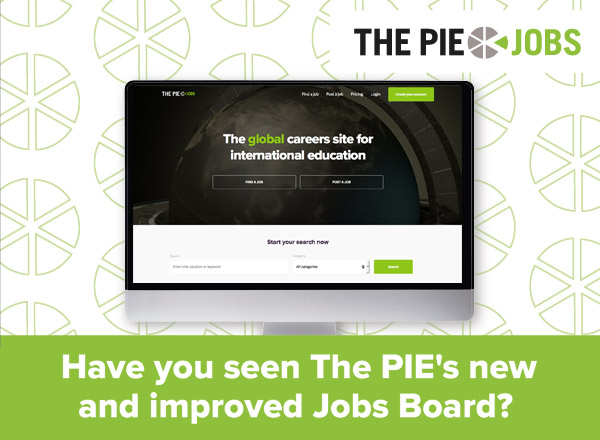 The PIE jobs website image