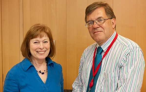 Pat Killingley (left) of the British Council and Colin Walters of AEI in Australia spearheaded the London Statement initiative