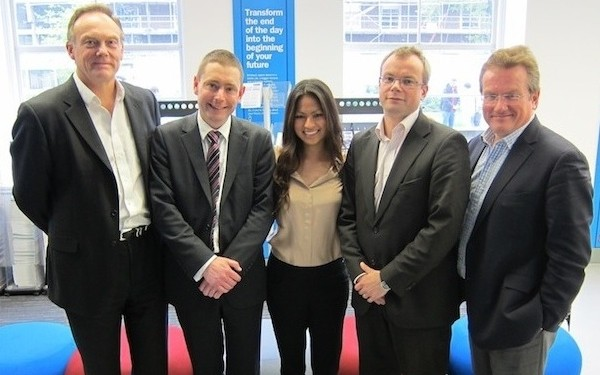 Fergus Brownlee, CEO of CEG (left) with other FoundationOnCampus team members