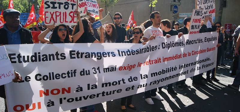 Collectif 31 du Mai estimates 2,000 students have been expelled since the last government made it harder to gain post-study work and residency
