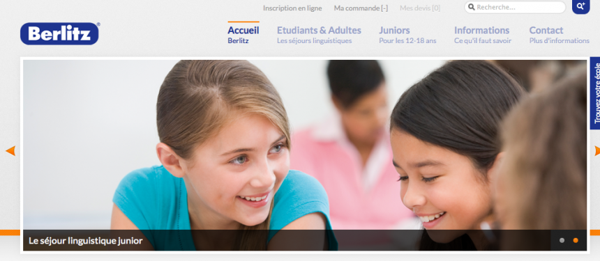 The Berlitz-study-abroad.com website is currently only targeting the French market