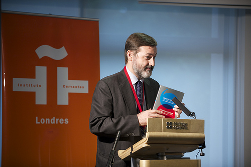 Rafael Rodriguez-Pong, Secretary-General of Instituto Cervantes at the London launch. Photo: British Council/Frank Noon
