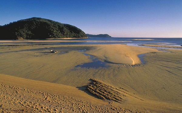 Abel Tasman National Park in New Zealand – but NZ is keen to promote serious academic achievement over scenery