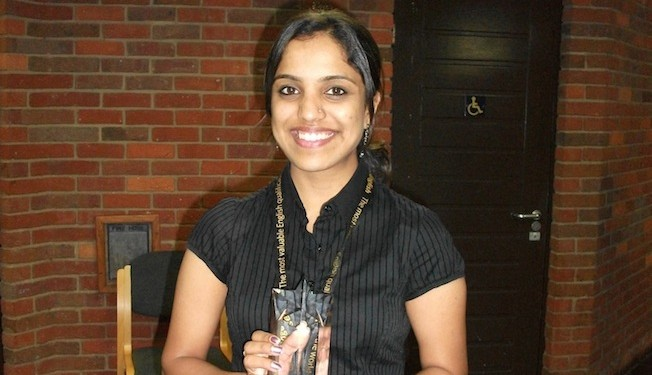 Sruthi Vijayachandran won an MBA scholarship with LSBF