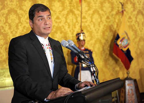 President Rafael Correa declared the scholarships were unlimited for students who pass the exam and study at the government approved universities
