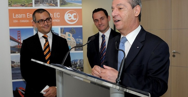L-R: Andrew Mangion, Exec Chairman; Mike Xuereb, CEO of EC with Prime Minister Lawrence Gonzi