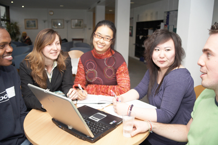 International students (such as these) were surveyed for insight into their decision-making processes for why they choose an institution and country. photo: University of Roehampton, UK.