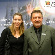 Elvira Marcos Salazar, consul of tourism from Embassy of Spain in Brazil, and Carlos Robles, Belta's president