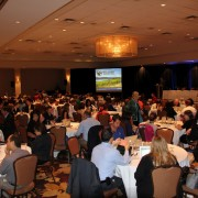 Delegates during an opening plenary session at Summer Seminar 2012.