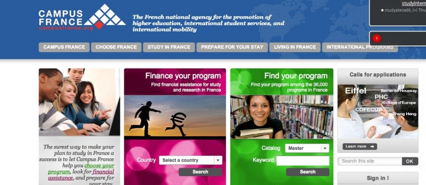 CampusFrance has a comprehensive search facility that can segment courses taught in English