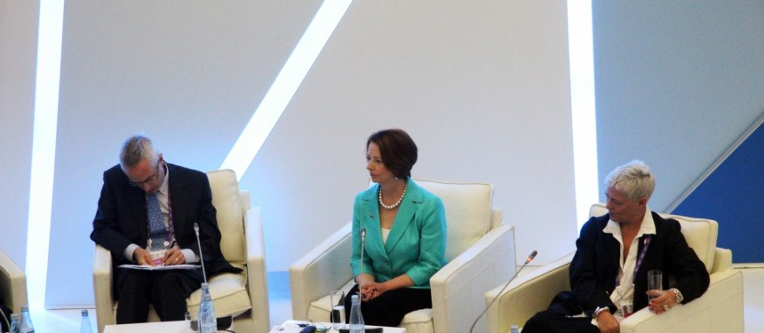 Australian Prime Minister Julia Gillard headed the push for the accord which will open up the APEC region to more student and researcher mobility
