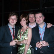 L-R: John Lyons and Hannah Alexander, University of the Arts; Blair Byfield, Malvern House and Michael Quinn, CES.