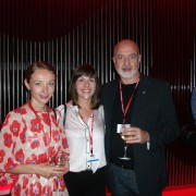 Ann Hawkings, Nicola Whyley (m) and Paolo Barilari from I Centri agency, Italy