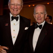 Institute of International Education Chairman Thomas A. Johnson (L) with IIE President Allan E. Goodman