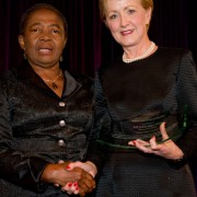 First Lady of Ghana with Ann Stock