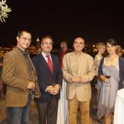 EFL Monitoring Board Chairman Danial Xerri, Spanish Ambassador Felipe de la Morena Casado and NSTS Managing Director Francis Stivala