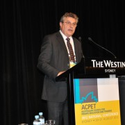 Martin Cass, ACPET Chair, welcomes conference delegates and officials