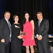 Social Inclusion Initiative, MEGT Institute, accepting the award – Nicole Gayewski and David Windridge