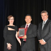 International Provider of the Year, Academia international, accepting the award – Min Park