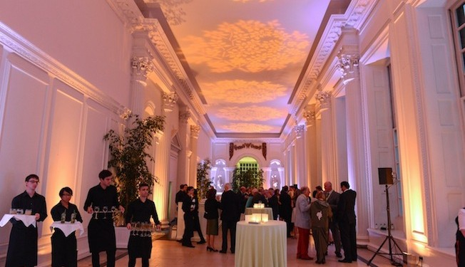 The fantastic venue of the Orangery in Kensington Gardens