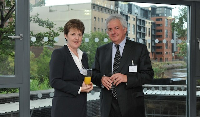 Andrea Nolan, deputy vice-chancellor of the University of Glasgow, and David Jones, CEO of Kaplan International