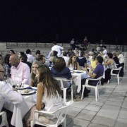 The farewell dinner was on the patio of the castle of Peñíscola with entertainment provided by a live jazz band