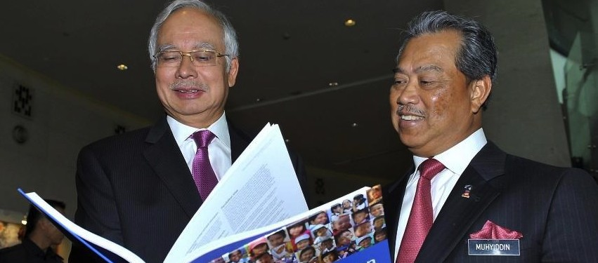 PM Najib Tun Abdul Razak (left) with deputy PM, Muhyiddin Yassin at the launch of the Education Development Plan in Kuala Lumpur last month
