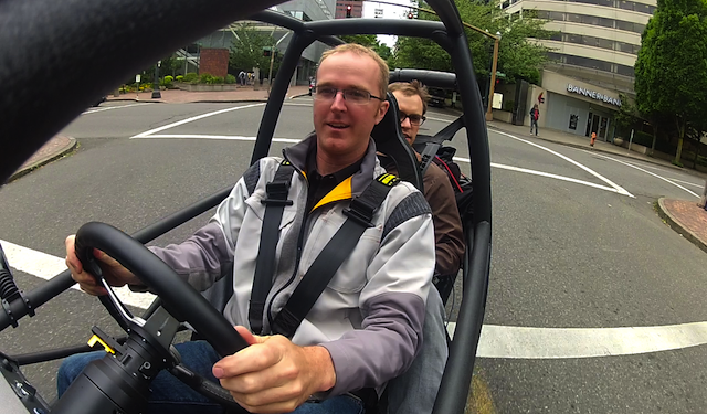 The CEO of electric car manufacturer Arcimoto, Mark Frohnmayer, has taken part in an English, baby! video lesson