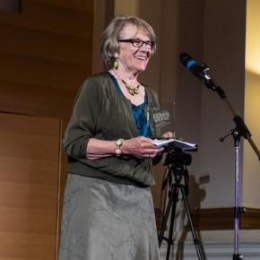 Brita Haycraft accepting the Lifetime Achievement Award