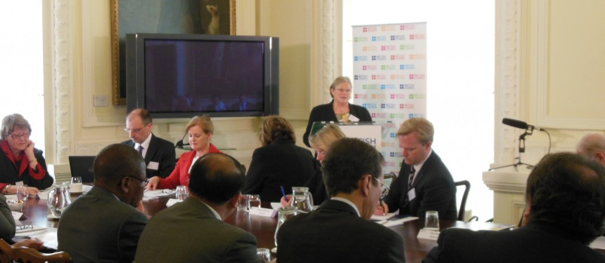 The British Council's Jo Beall opens the G8 Higher Education summit where the TNE study findings were presented