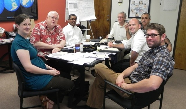 The iTEP team having a strategy meeting at their headquarters in Los Angeles.