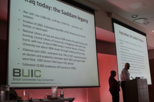 John Withrington and Wendy Jordan of BUIC presented on opportunities in Iraq