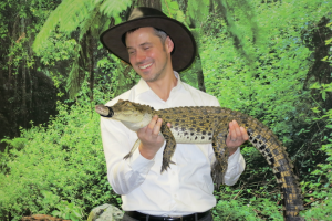 Attendees had a chance to get up close to Australian wildlife at the event