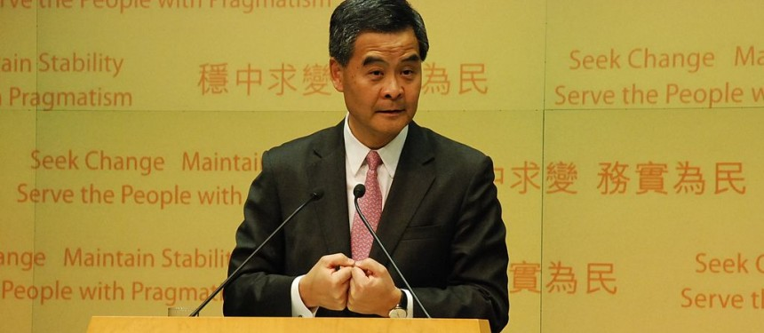 Hong Kong's Chief Executive Leung Chun-ying, who announced the fund in his 2014 Policy Address. Photo: VOA.