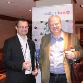 Samuel Vetrak of Student Marketing with Eddie Byers, CEO of English UK