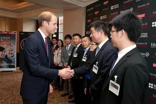 Prince William honours Chinese UK alumni