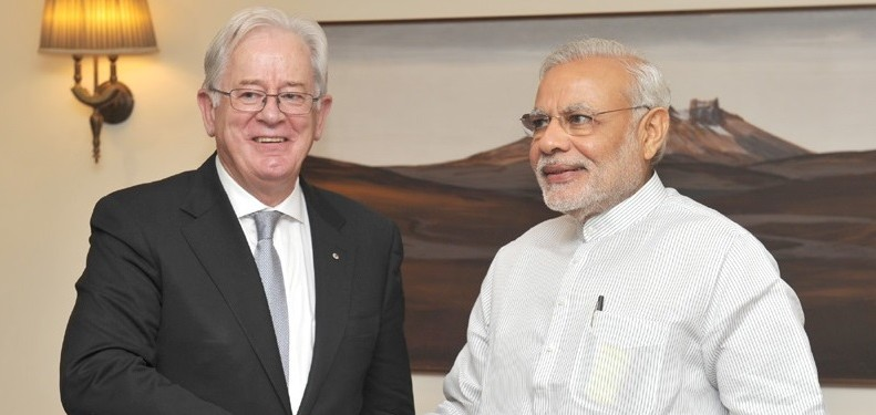 Andrew Robb, Australian Minister for Trade and Investment, with Indian Prime Minister, Narendra Modi. Photo: pmindia.gov.uk