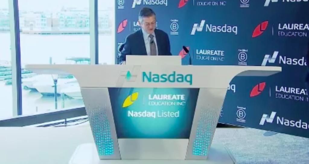 Douglas Becker opens Nasdaq for Laureate Education IPO