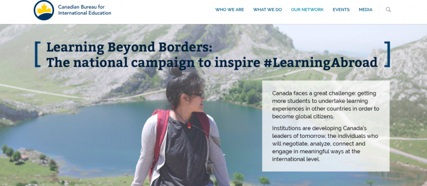 CBIE's #LearningAbroad campaign to encourage Canadian students to study abroad