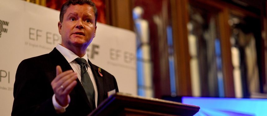 EF vice president Christopher McCormick spoke at the launch event in the Houses of Parliament