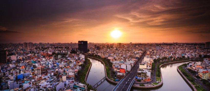 Vietnam english proficiency - A view of Ho Chi Minh City, Vietnam.